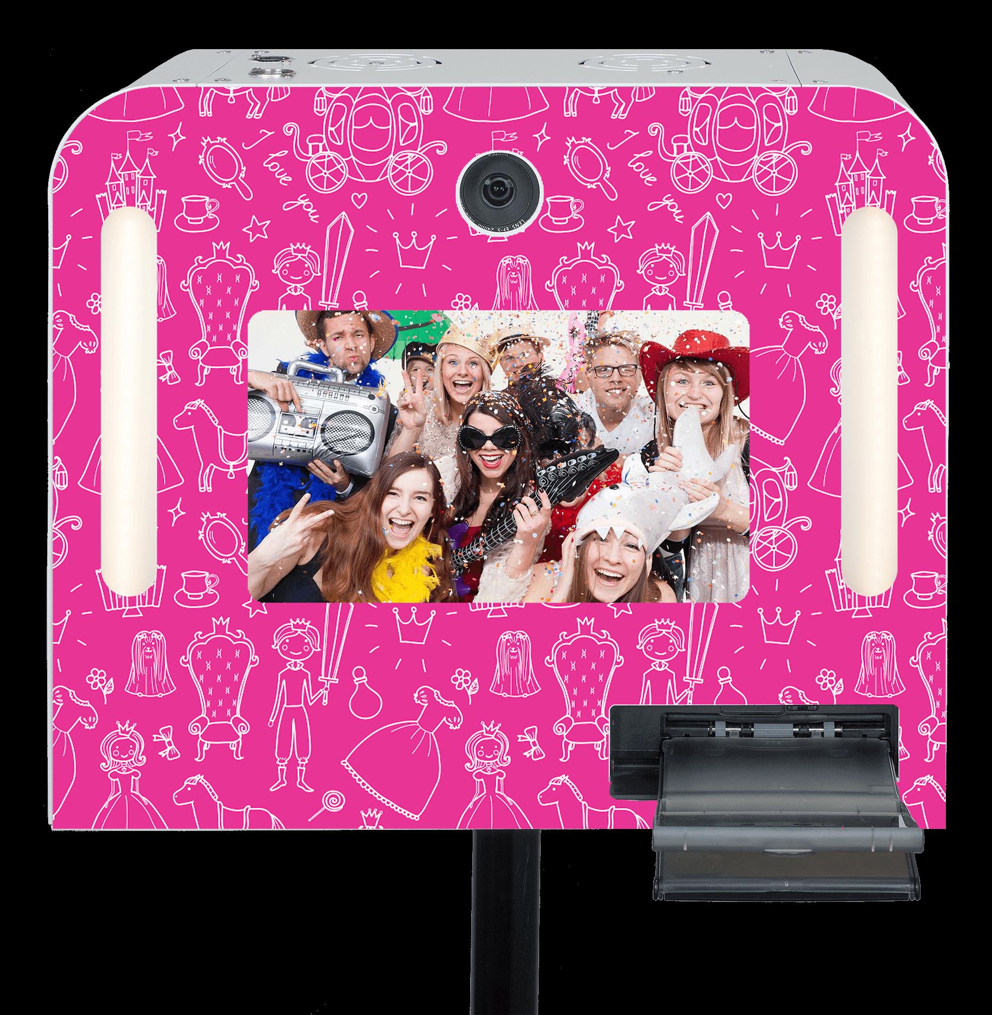 "Fotobox ""Prinzessin Pink"" mieten."