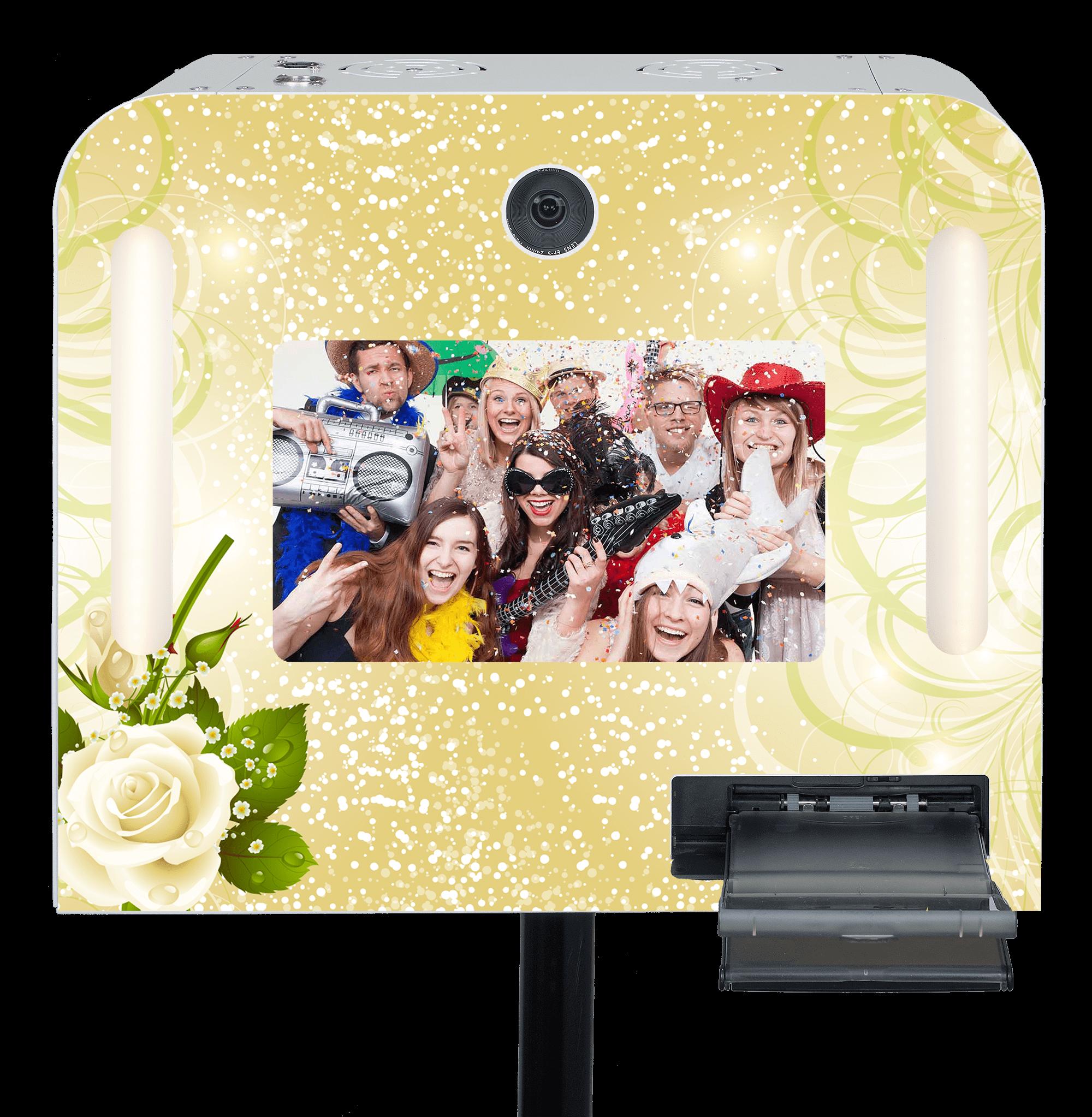 """Hochzeits-Fotobox """"Goldrausch"""" mieten"""
