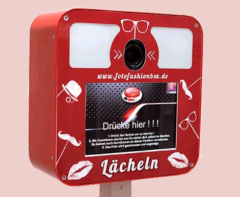 Rote Fotobox aus Mühlhausen in Thüringen