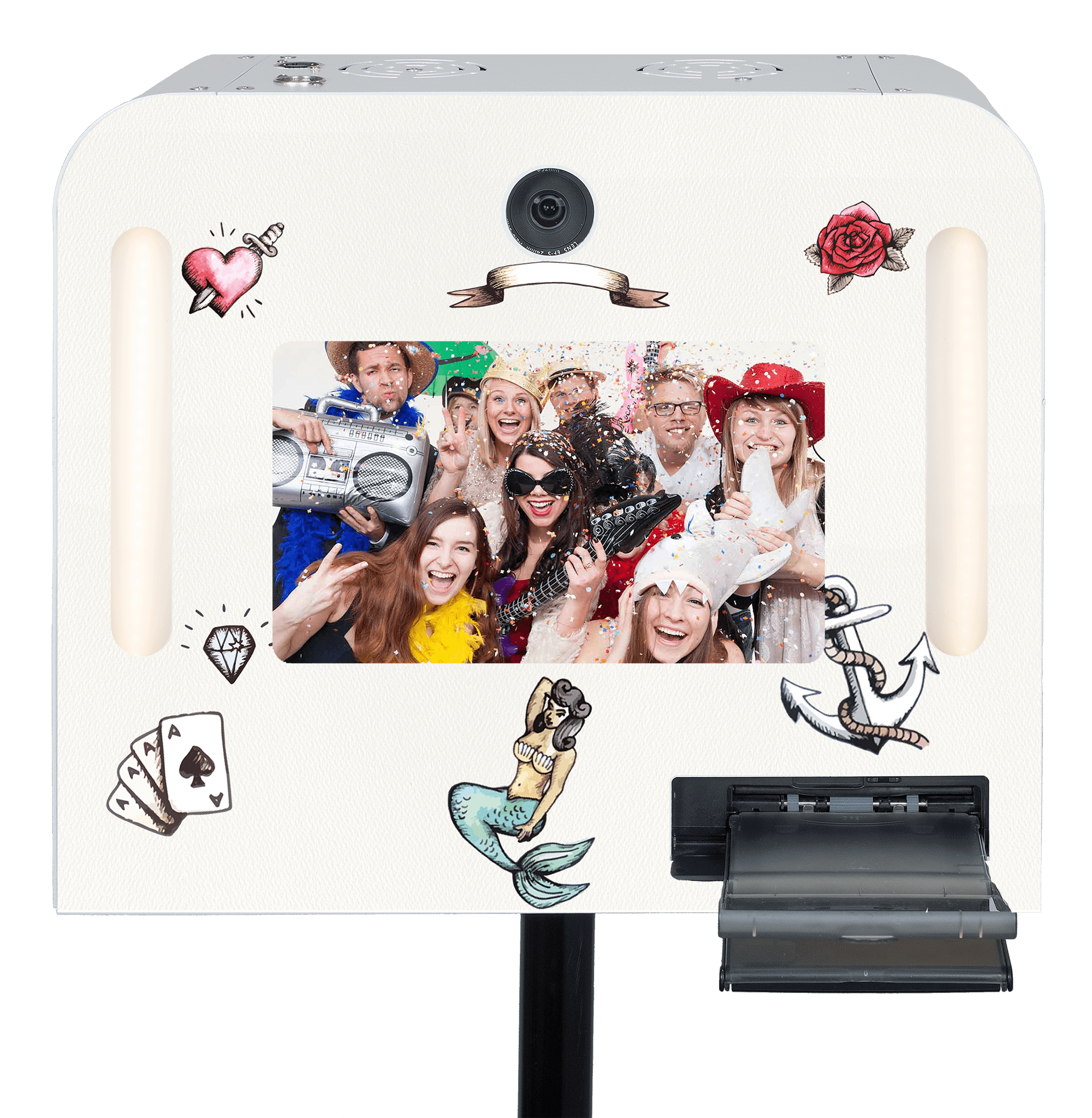"Fotobox ""Tattoo"" mieten."