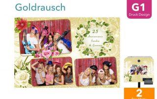 G1   Goldrausch ( Fotobox Drucklayout)