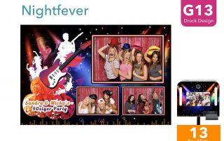 G13   Nightfever (Fotobox Drucklayout)