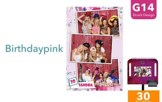 G14 | Birthday Pink (Fotobox Drucklayout)