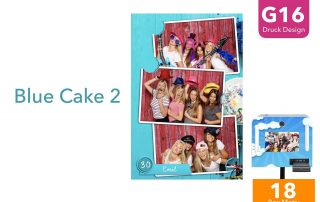 G16 | BLue Cake 2 (Fotobox Drucklayout)