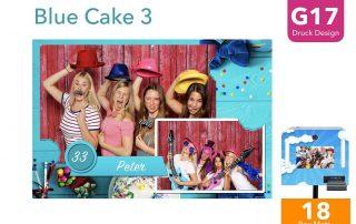 G17   Blue Cake 3 (Fotobox Drucklayout)