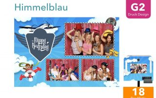 G2   Himmelblau ( Fotobox Drucklayout)