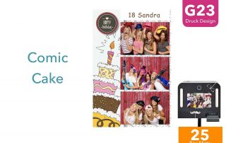 G23 | Comic Cake (Fotobox Drucklayout)