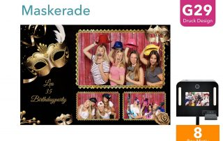 G29 | Maskerade (Fotobox Drucklayout)