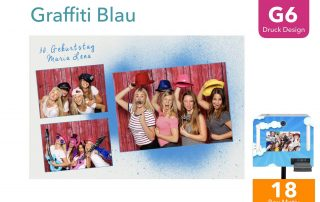 G6 | Graffiti Blau (Fotobox Drucklayout)