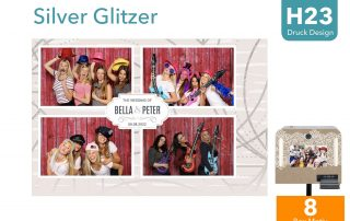 H 23 | Silver Glitzer (Fotobox Layout)