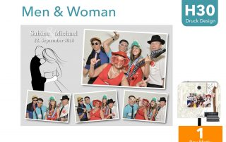H 30 | Men & Woman (Fotobox Layout)