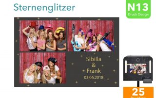 N13 | Sternglitzer (Fotobox Drucklayout)