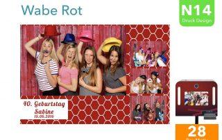 N14 | Wabe Rot(Fotobox Drucklayout)