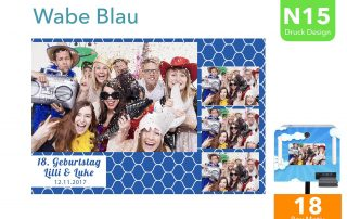 N15 | Wabe Blau (Fotobox Drucklayout)