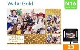 N16 | Wabe Gold (Fotobox Drucklayout)