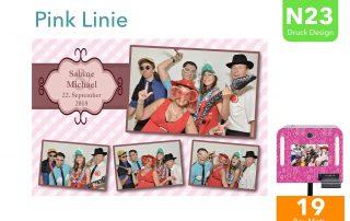 N23 | Pink Linie (Fotobox Drucklayout)