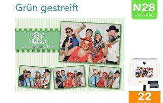 N28 | Grün gestreift (Fotobox Drucklayout)